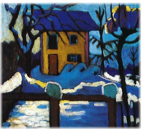 Gabriele Munter, House in Winter, 1909, Collection Mr. and Mrs. Dan Garson.