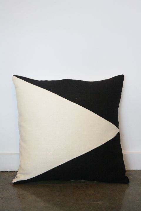 Best 25 black and white cushions ideas on pinterest for Black and white striped chaise lounge cushions