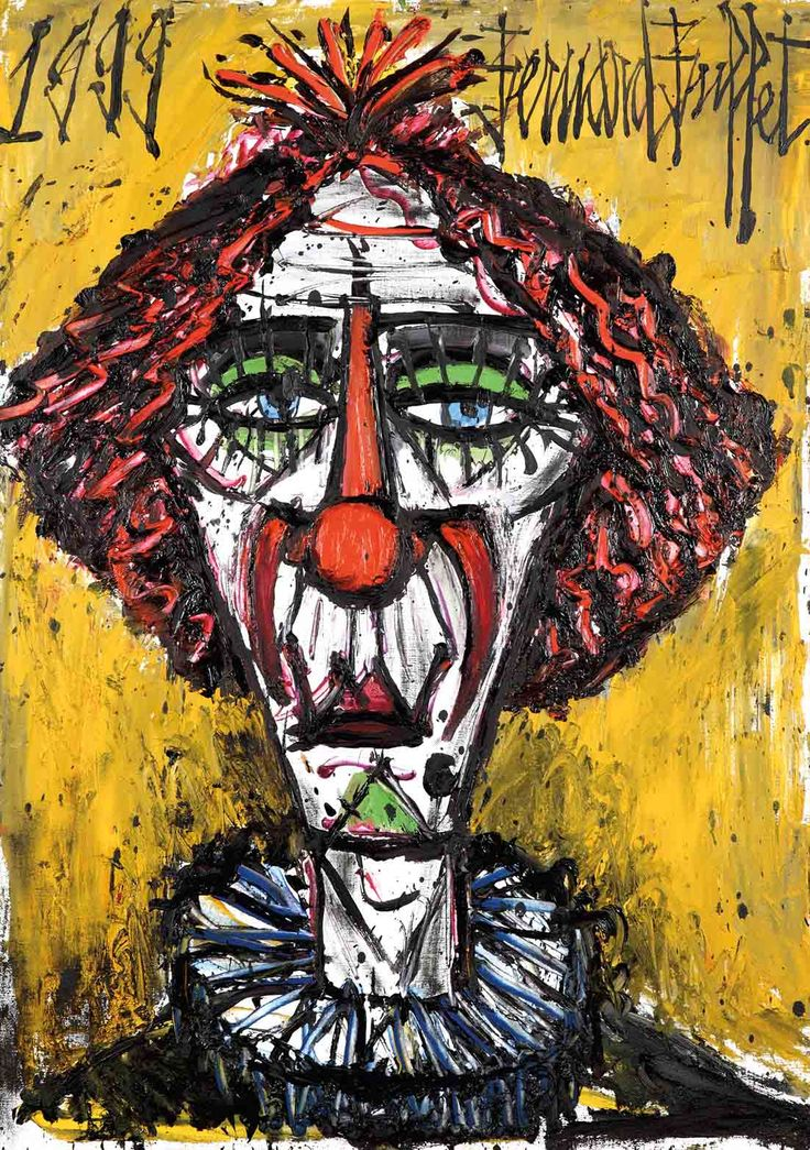 59 best images about Pinturas Clown de Bernard Buffet on ...