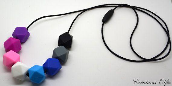 Collier silicone billes diamant  couleurs de par CreationsOlfee
