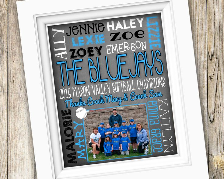 Softball Coach Gift ~ Personalized Custom Printable ~ Team Photo Subway Art ~ Digital Image JPEG File ~ End of Season Little League Baseball by SubwayStyle on Etsy