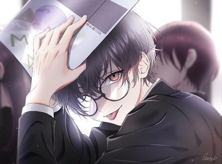 Hd Wallpaper Anime Boys Male Tongue Out Pierced Tongue Glasses Black Hair Wallpaper Flare Anime Glasses Boy Cute Anime Guys Anime Boy Hair
