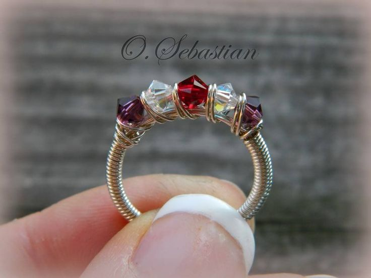 Tutorial for my original design, Wire Wrapped Mother's ring. Includes complete, step-by-step instructions and plenty of full-color pictures.