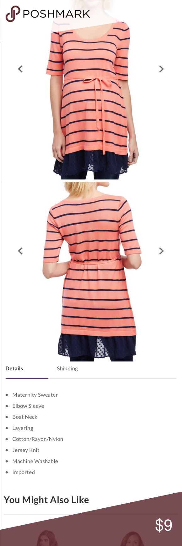 Black and white striped short sleeve Top is the same as picture above, but white with black stripes. Excellent used condition only worn a couple times. Motherhood Maternity Tops