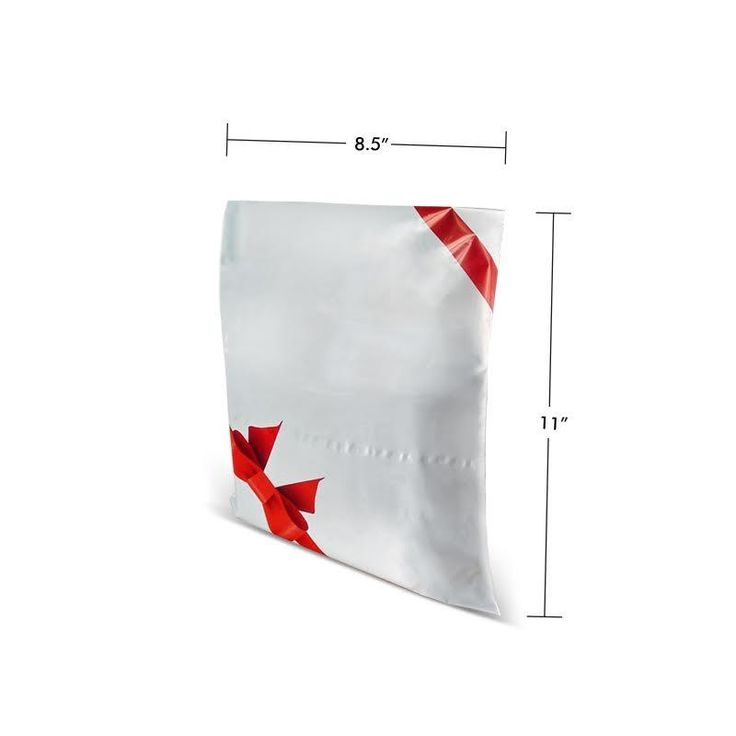 8.5 x 11 Premium Printed Courier Bags & Mailing Envelopes (Bow & Lace) For Stationery Packaging