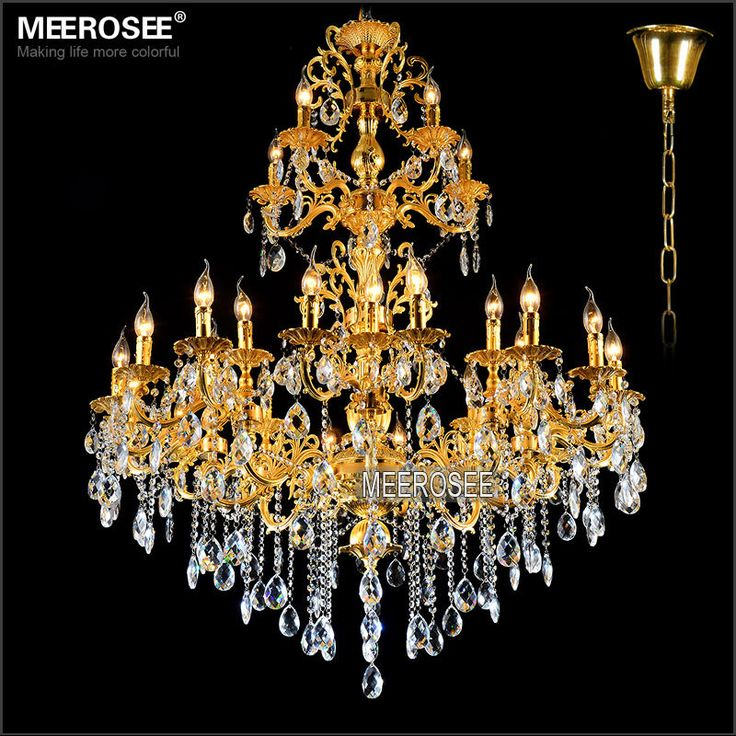 20 best gorgeous crystal chandelier images on pinterest crystal cheap lamp post light fixtures buy quality lamp laptop directly from china lamp rgb suppliers luxurious gold large crystal chandelier lamp crystal lustre aloadofball Images