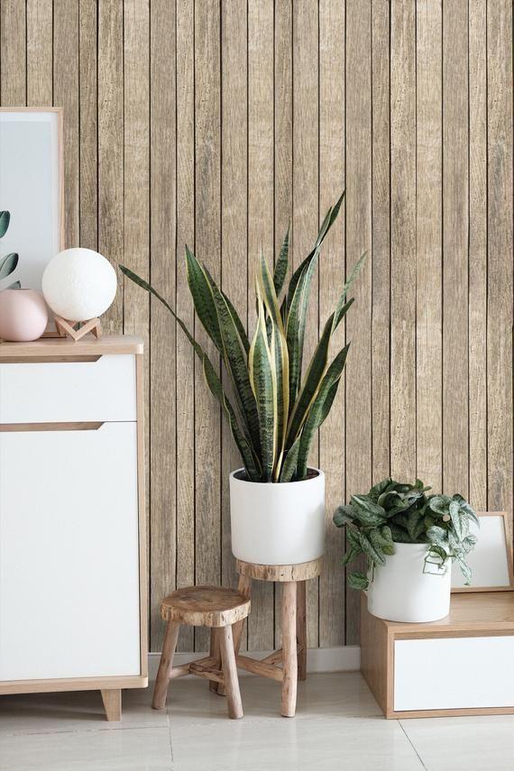 Shiplap Wallpaper Wood Peel And Stick Pale Wood Wallpaper Mural Removable Self Adhesive Wallpaper Te In 2020 Wood Wallpaper Wallpaper Accent Wall Removable Wallpaper