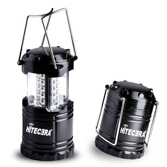 LED Camping Lantern By Hitecera Ultra Bright Camping Light Collapsible Waterproof Energy-saving Battery-powered For Hiking *** Read more at the image link.