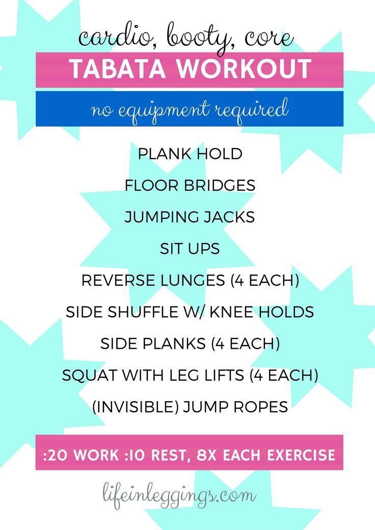 Cardio, Core & Booty Tabata Workout (Life In Leggings ...