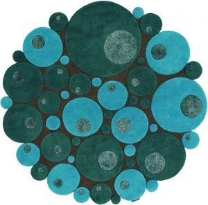 tapis rond bleu tapis de salon pinterest. Black Bedroom Furniture Sets. Home Design Ideas