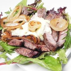 Pan-Roasted Ribeye with Caramelized Onions and White Truffle Butter - Allrecipes.com