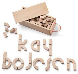 Alfabet blokken van ontwerper Kay Bojesen