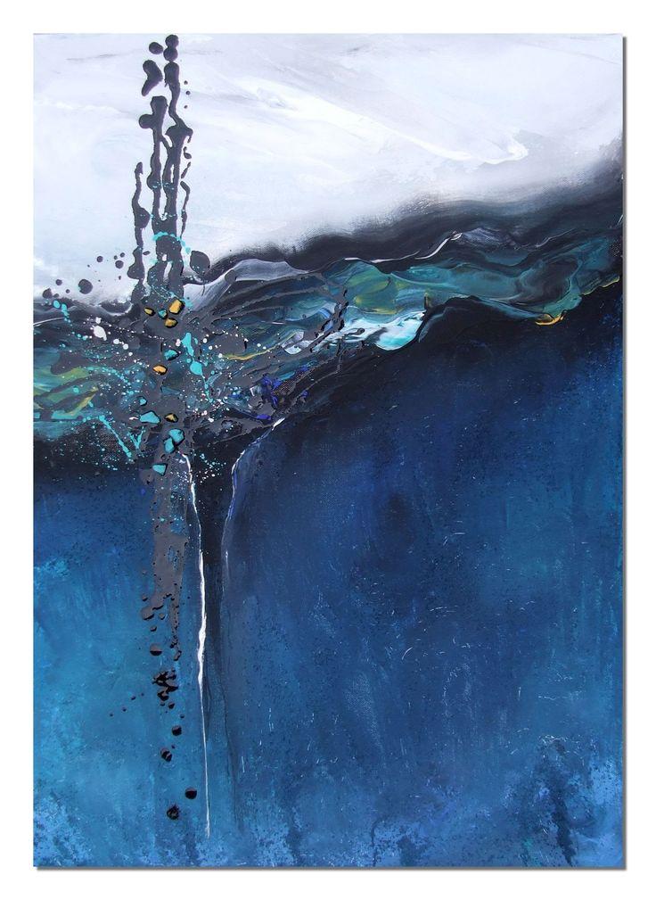 painting acrylic,abstract,  Acrylmalerei, memories of Cala Barca