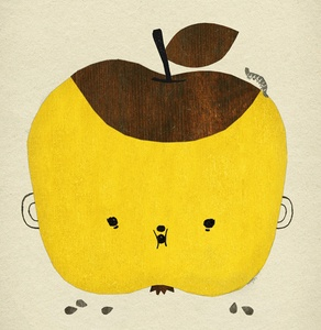 Apple Papple by Elizabeth Dunker - Fine Little Day -  Size: 50 x 70 cm/19.6 x 27.5 inches Offset printed on 170g / 0.37 Ib, off-white paper
