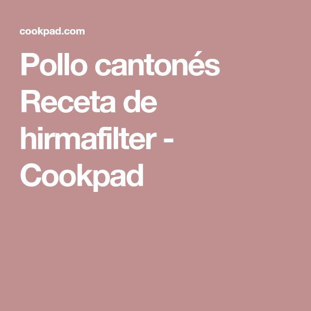 Pollo cantonés Receta de hirmafilter - Cookpad