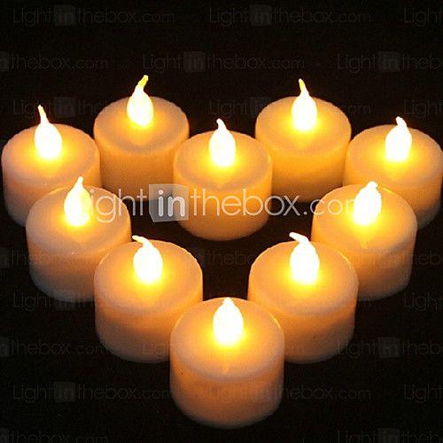 1PCS LED amarelo em forma de vela Luz Abastecimento Partido Decoração de casamento (4.5x3.9x3.9cm) - USD $ 0.99
