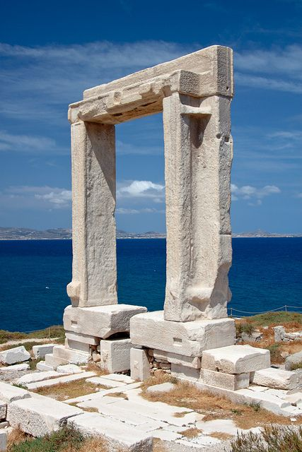 Apollo's Temple, Delos, Greek island, Delos Island. According to the Greek mythology, Delos was the birth place of Apollo, the god of light and maybe of Artemis, the twin-sister of Apollo, goddess of hunting.