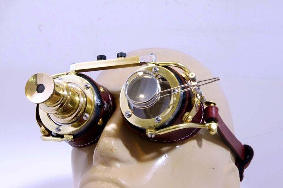 Steampunk Goggles Goth Theatrical Industrial by steampunkdesign
