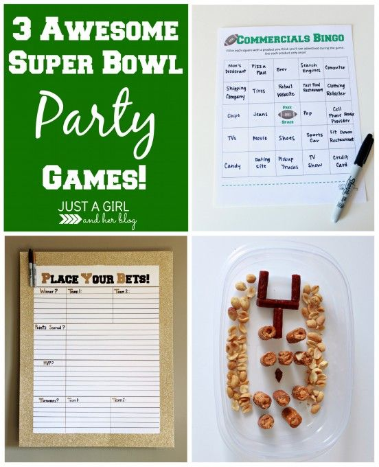 3 awesome party games for your Super Bowl party this year! | Just a Girl and Her Blog