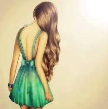 Картинки для срисовки девушки со спины в х
