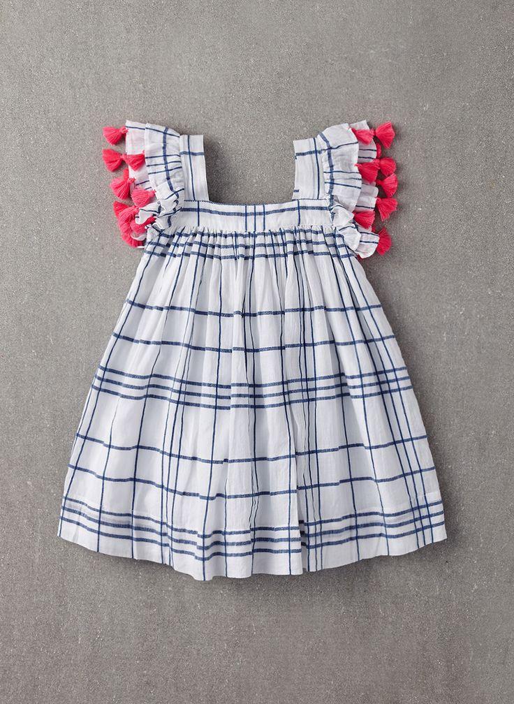 Nellystella Chloe Dress in Blue Check - PRE-ORDER