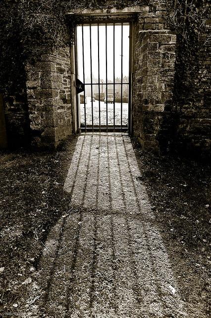 Prison door. Belgium