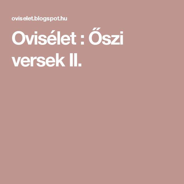 Ovisélet : Őszi versek II.