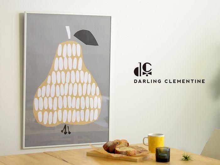 【楽天市場】DARLING CLEMENTINE(ダーリン・クレメンタイン)Pear(洋なし) ポスター50×70cm北欧デザイン、北欧インテリアに:cortina(コルティーナ)