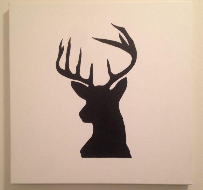 Oh Deer! DIY Silhouette Deer Painting