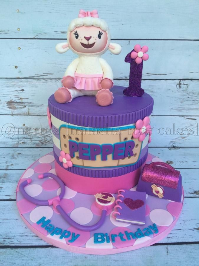 Lambie first birthday cake by Natasha Rice Cakes
