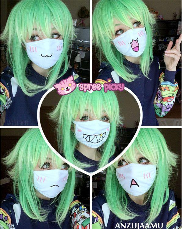 Emoji Face Dust Masks Kawaii Cosplay Cosplay Anime Anime