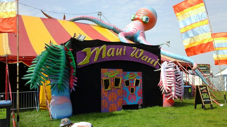Gorgeous Maui Waui Stage at Bearded Theory Festival, Catton Park Nr Alrewas, May 2016.