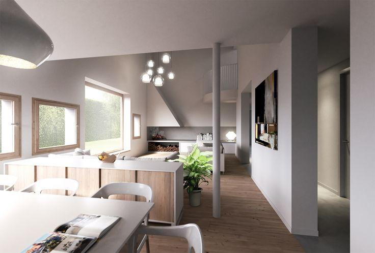Kitchen & Dining room design...Find a 3D Renderer on Easy Render - The 3D Rendering Platform  #design #natural  #modern #simple #kitchen #dining #furniture #productdesign #architect  #architecture #render #visualisation #lovearchitecture #design #interior #interiordesign #livingroom #white #small #space