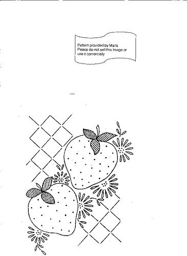 strawberries embroidery LW 774 b