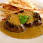Fillet Steak with Peppercorn Sauce & Double Cooked Chips