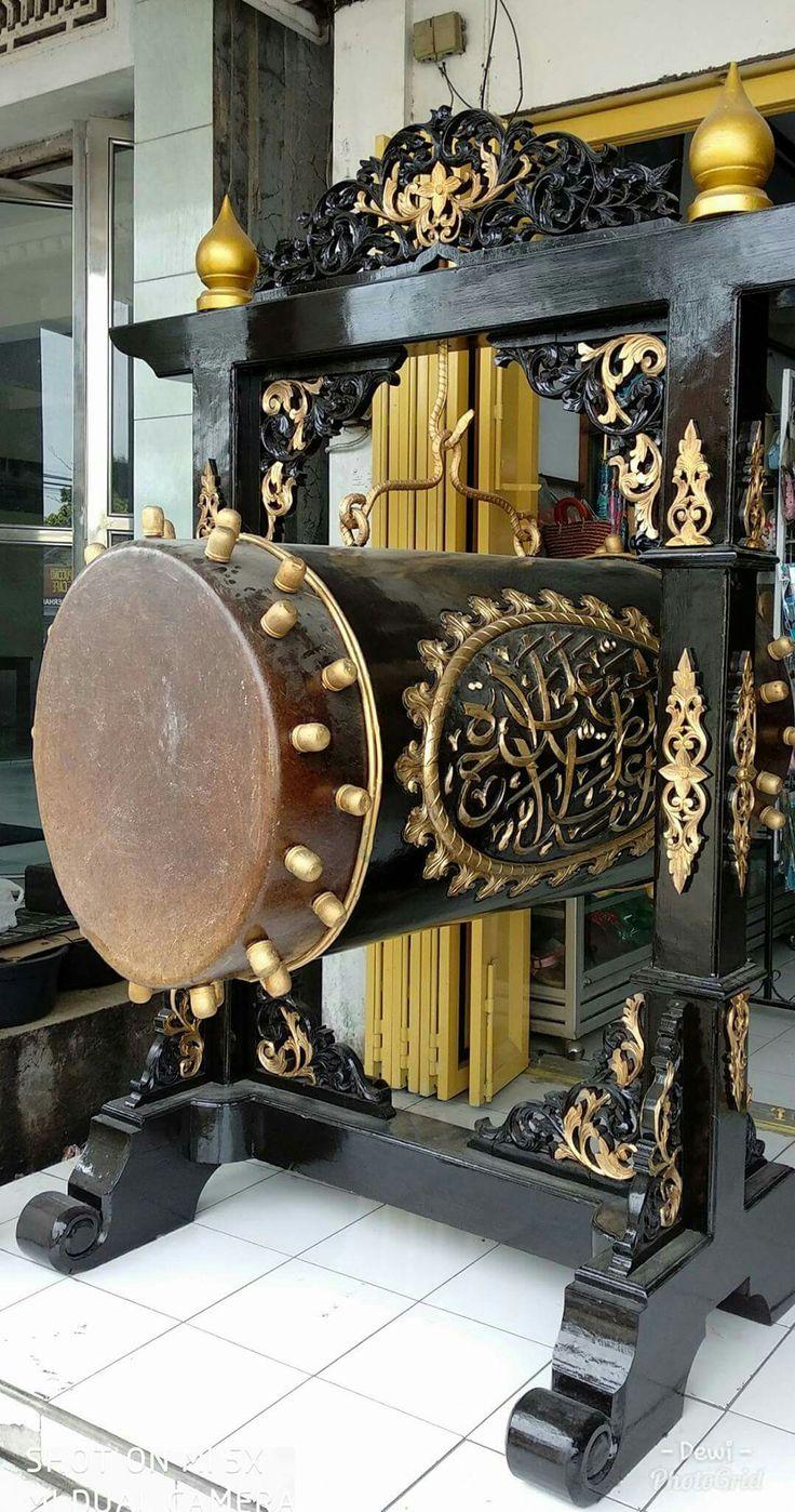 Bedug Masjid. bahan kayu jati solid tua yang terbaik untuk