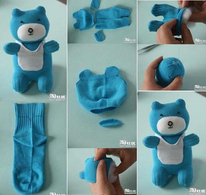 Sock teddy bear #diycrafts