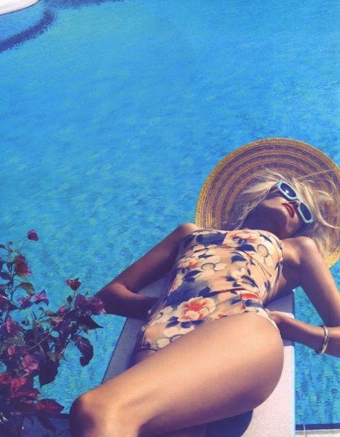 sun bathe