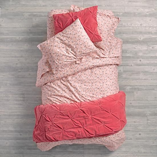"""These velvet quilts are so soft and comfy, we're pretty sure people are going to start using the idiom, """"Snug as a velvet quilt from The Land of Nod"""" (at least, we hope). Dk. Pink quilt and sham features an all over pinwheel stitch and is available in Twin or Full-Queen.<br /><br /><NEWTAG/><ul><li> Nod exclusive</li><li> Quilt and Sham feature all-over pinwheel stitch</li><li> Velvet front with cotton sheeting on the back</li><li> Available in Twin or Full-Queen</li><li> For complimentary…"""