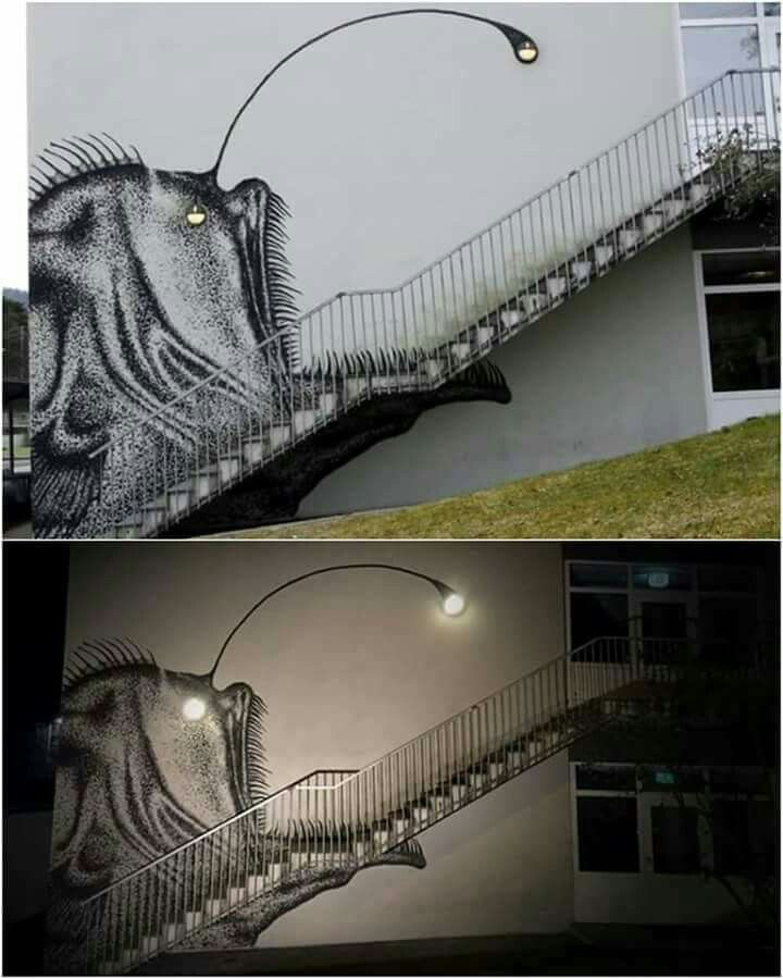 Art by the stairs                                                       …