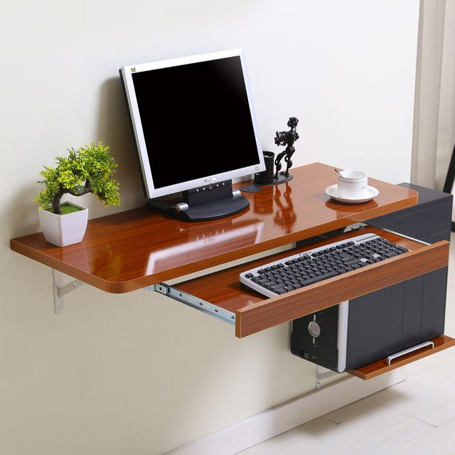 Simple Home Desktop Computer Desk Simple Small Apartment New Space Saving Wall  Table | Small Spaces | Pinterest | Desktop Computer Desk, Small Apartments  ...