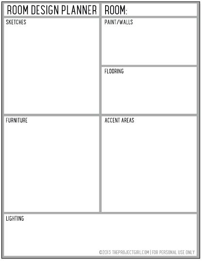 Home project plan template