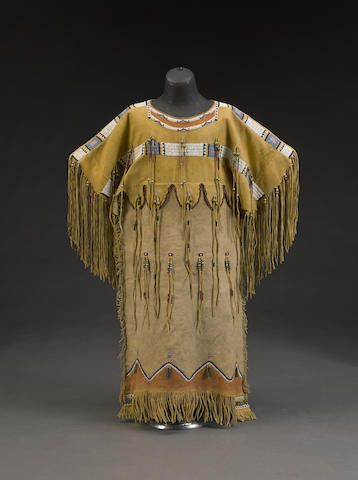 A southern cheyenne girl 39 s dress tsitsistas pinterest for Cheyenne tribe arts and crafts