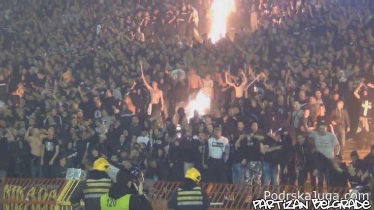 Partizan Ultras Grobari start fires in stands in Belgrade derby - The Be...