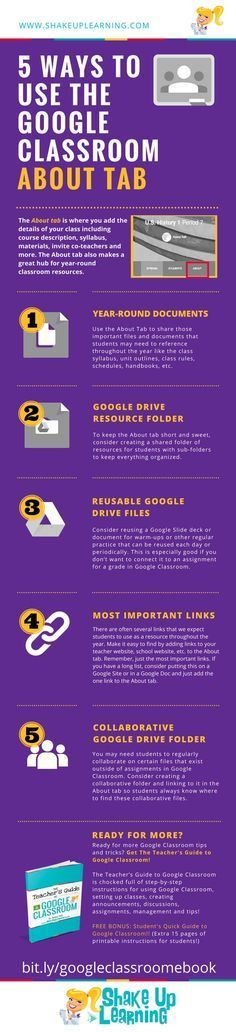 5 Ways to Use the Google Classroom About Tab [infographic]