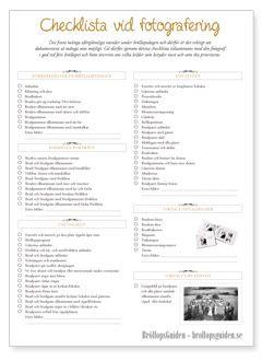 Bröllopsfoto - checklista vid fotograferingen hittar du här - BröllopsGuiden