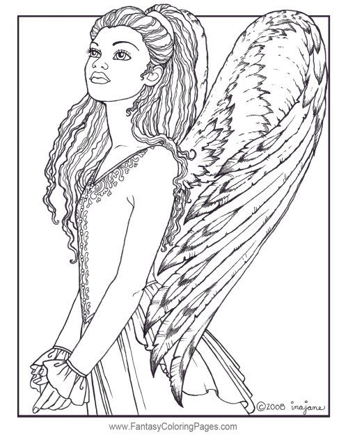 angel coloring pages for adults Pin by Sonja Henderson on Mandalas | Coloring pages, Angel  angel coloring pages for adults