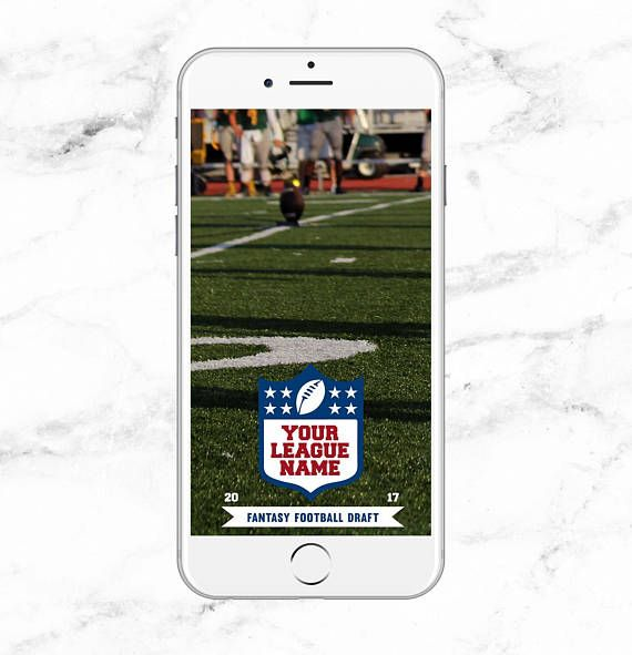 NFL Fantasy Football Draft Day Personalized Snapchat Geofilter
