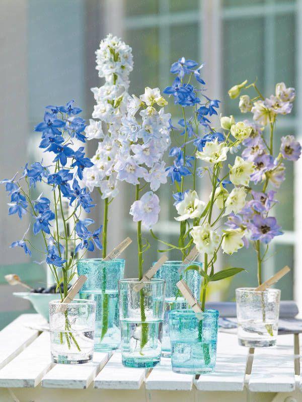 Sommerliche Blumen-Dekoration - blumen-dekoration-blau-010