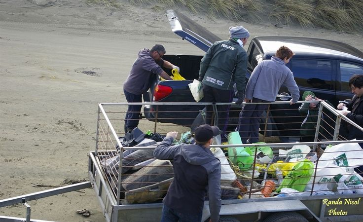 Oreti Beach Clean up in full swing. July 14, 2013. See the story at http://iluvinvers.co.nz/oreti-beach-beach-comb/